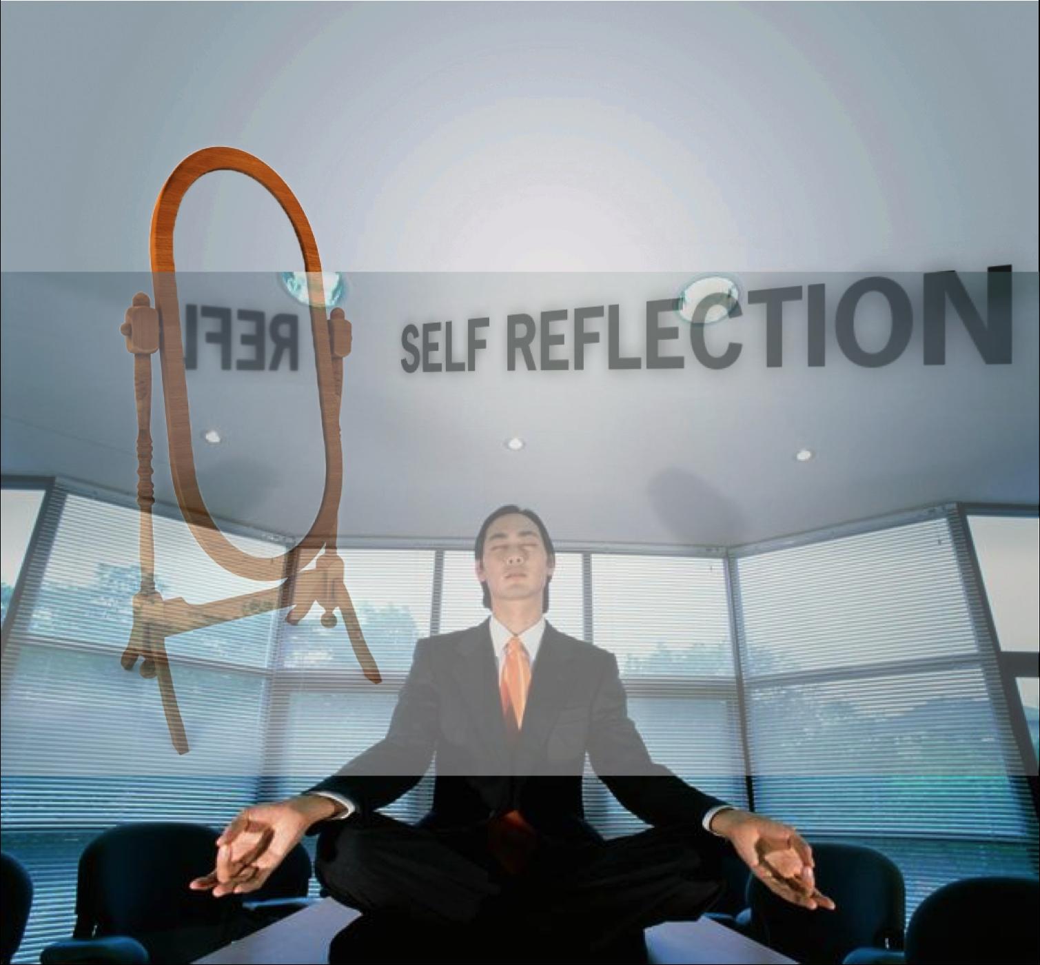 Business spiritualiteit, mediterende man